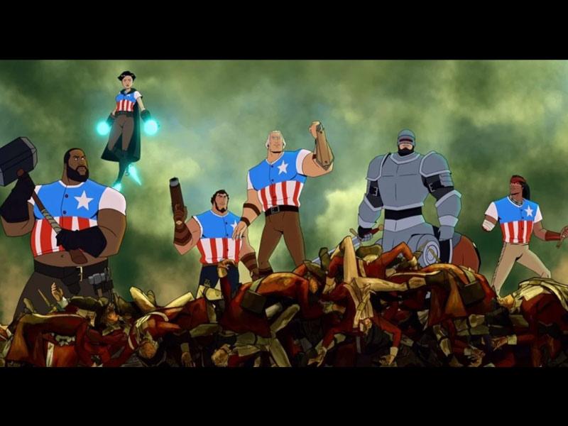 America, USA, animated movie