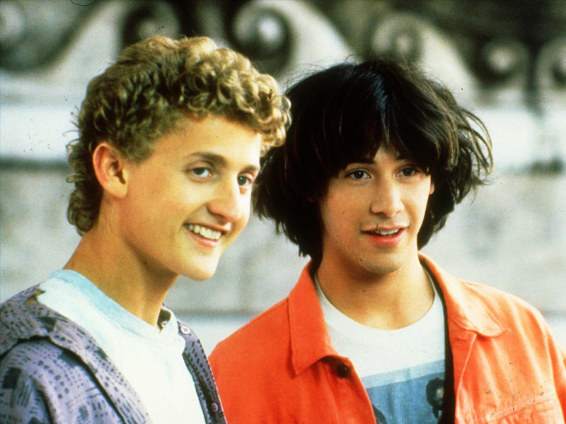 bill and ted keanu reeves first movie