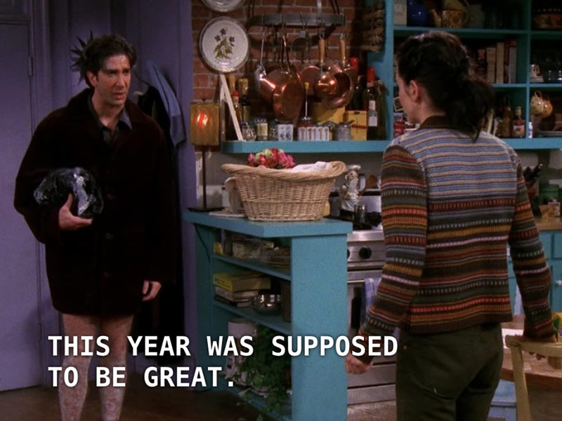 ross predicted 2020, the one with leather pants, ross leather pants