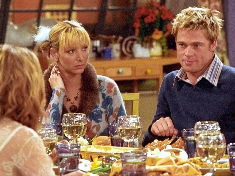 the one with rumor, brad pitt friends, brad pit friends episode