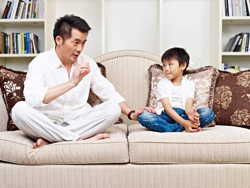 parent disciplining child