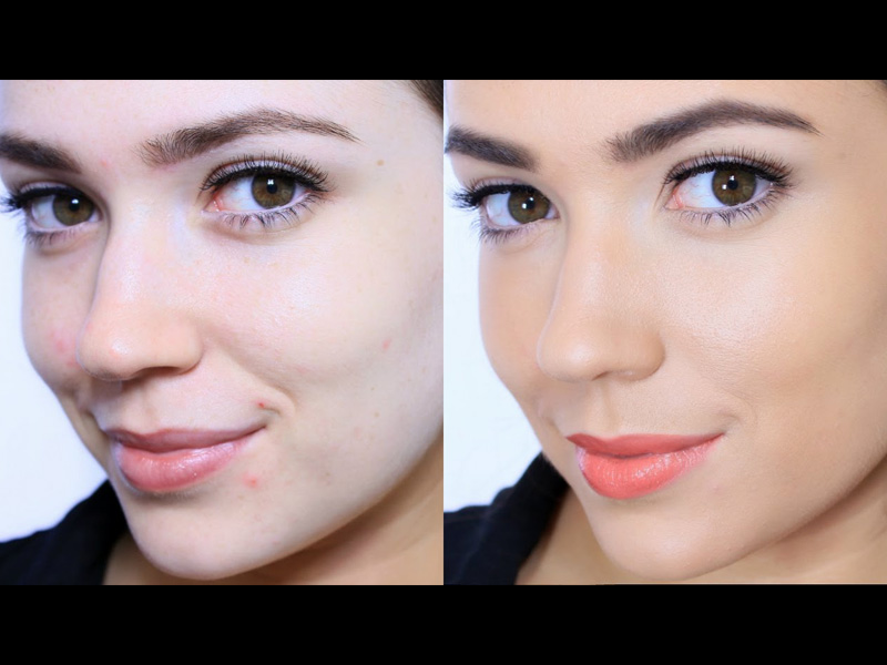 mineral makeup look
