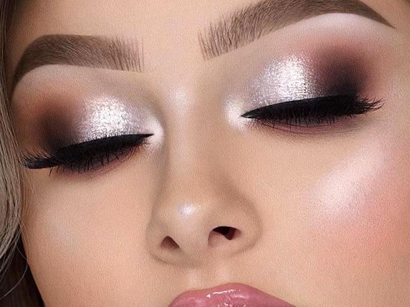 shimmer make up look