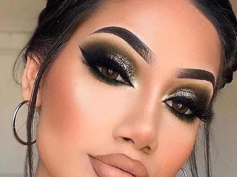 smokey eyes makeup look