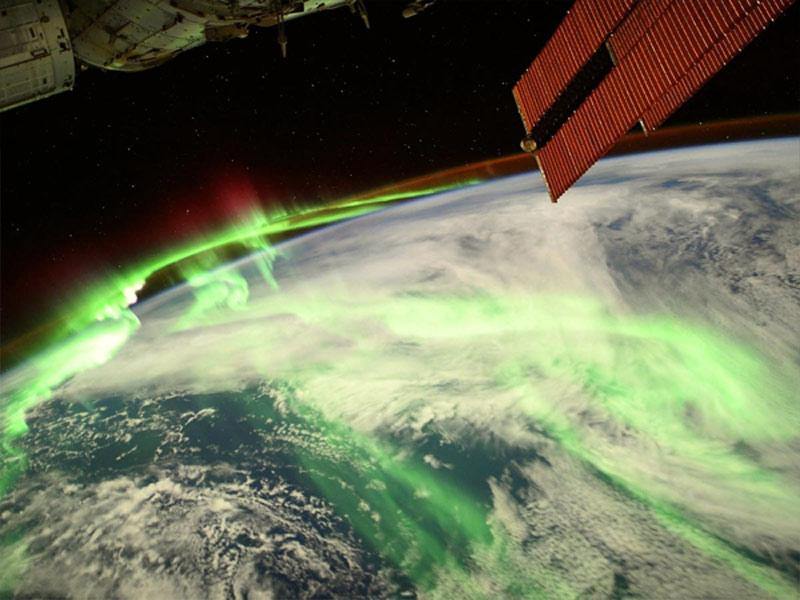 aurora austrails from space