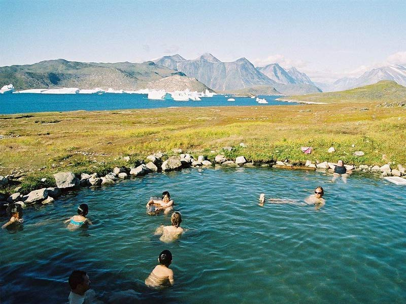 hot springs in greenland